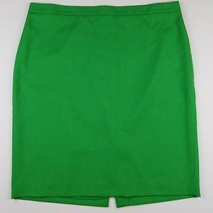 J.Crew wool No. 2 Pencil skirt in grass green